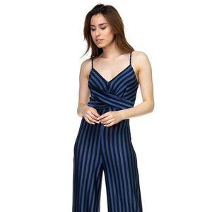 Pants - Stripe Front Twist Jumpsuit